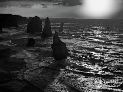 Photograph - World's End Bw by Tim Richards