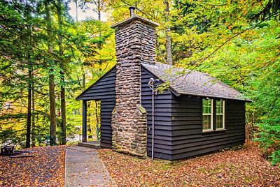 Fall Photograph - Worlds End Cabin by Steve Harrington
