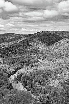 Photograph - Worlds End State Park Lookout 6 Bw by Steve Harrington