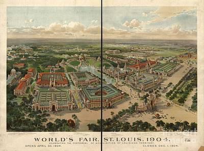 Worlds Fair Louis Art Print by MotionAge Designs