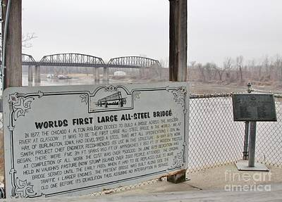 Photograph - Worlds First Large All Steel Bridge by Kathy Cornett