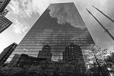 Photograph - World's Largest Canvas John Hancock Tower Boston Ma Black And White by Toby McGuire