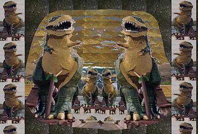 Photograph - Worlds Largest Dinosaur Tyrannosaurus Rex Statue Drumheller Alberta Canada by Navin Joshi