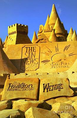 Photograph - Worlds Largest Sand Castle Sun News by Bob Pardue