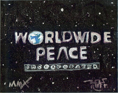 Letterman Painting - Worldwide Peace Incorporated by Robert Wolverton Jr