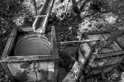 Photograph - Worm Box And Thump Keg In Black And White by Greg Mimbs