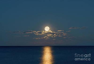 Worm Moon Over The Atlantic Art Print
