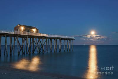 Michael Versprill Photograph - Worm Moon Rising At Belmar by Michael Ver Sprill