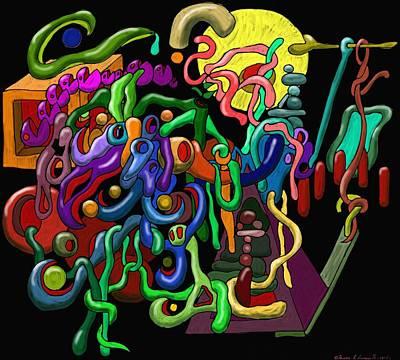 Worm Playground Art Print