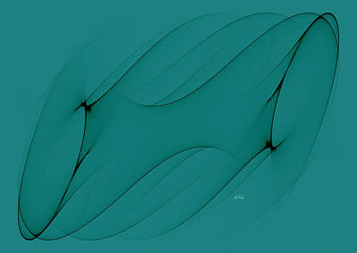 Digital Art - Wormhole In Turquoise  by Angela Stanton