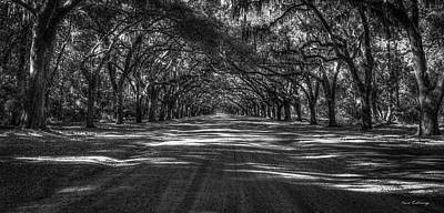 Wormsloe Plantation 2 Live Oak Avenue Art Art Print by Reid Callaway