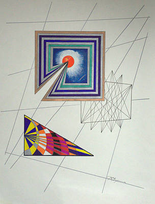 Drawing - Wormholes Squared by J R Seymour