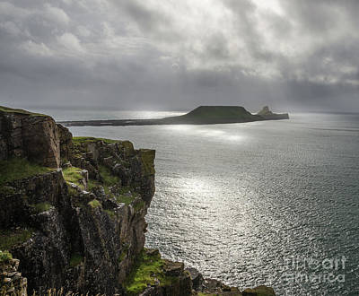 Photograph - Worms Head, Rhossili Bay 2 by Perry Rodriguez