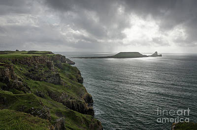 Photograph - Worms Head, Rhossili Bay by Perry Rodriguez