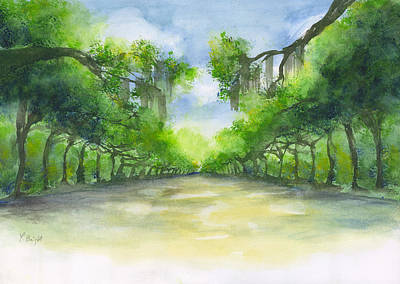 Painting - Wormsloe Historic Site  by Frank Bright
