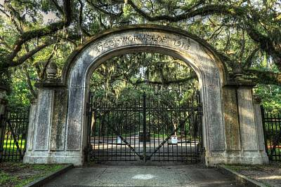 Photograph - Wormsloe Plantation Gates Savannah Georgia  by Carol Montoya