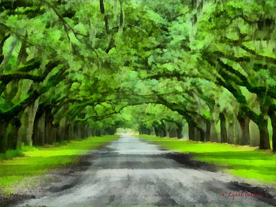 Wormsloe Plantation Art Print