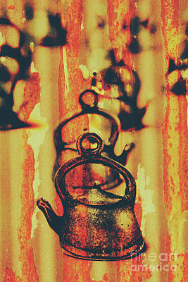 Teapot Photograph - Worn And Weathered Kettles by Jorgo Photography - Wall Art Gallery