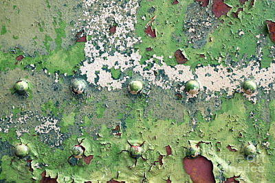 Rivets Photograph - Worn And Weathered by Tim Gainey