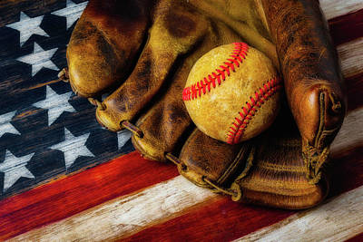 Worn Ball And Mitt Art Print