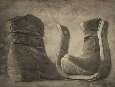 Photograph - Worn - Monochrome by Teresa Wilson