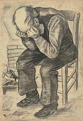Disappointed Painting - Worn Out At Eternity's Gate, 1882 02 by Vincent Van Gogh