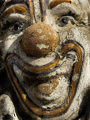 Photograph - Worn Out Clown by Jean Noren