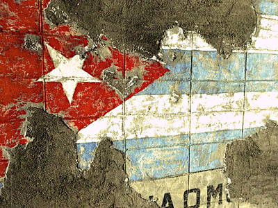Photograph - Worn Out Cuban Flag  by Funkpix Photo Hunter
