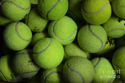 Worn Out Tennis Balls Art Print by Paul Ward