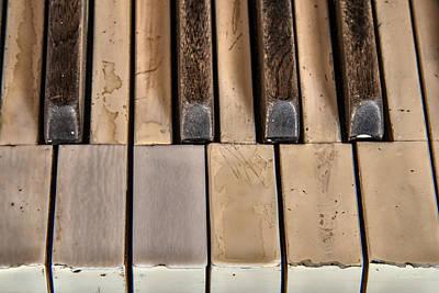 Piano Photograph - Worn Piano Keys by Leland D Howard