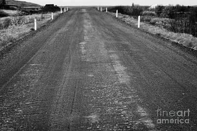Gravel Road Photograph - worn rural gravel road in Iceland by Joe Fox