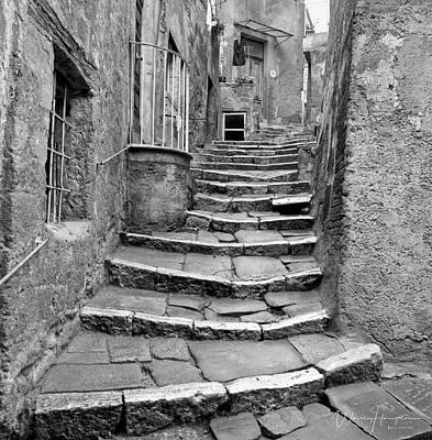 Photograph - Worn Steps, Sorano, Italy - J00614-028-010,s by Wally Hampton