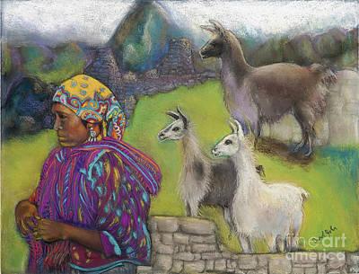 Machu Picchu Painting - Worry Watch by Carol Jobe