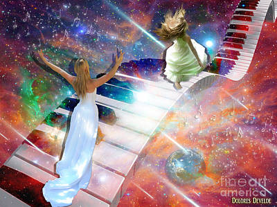 Piano Keys Digital Art - Worship In Spirit And In Truth by Dolores Develde