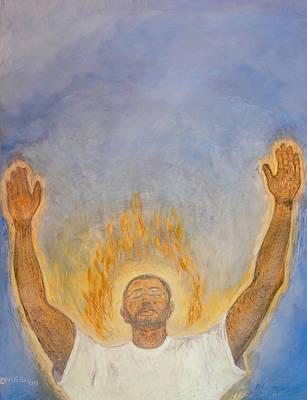 Holy Spirit Painting - Worship  by Nigel Wynter