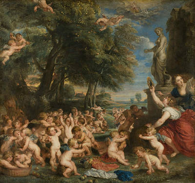 Goddess Worship Painting - Worship Of Venus by Peter Paul Rubens