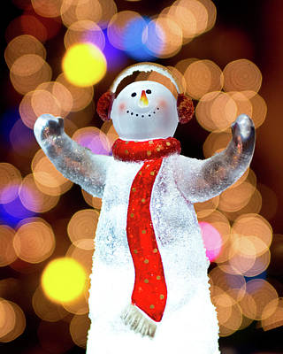 Worshiping Snowman Art Print