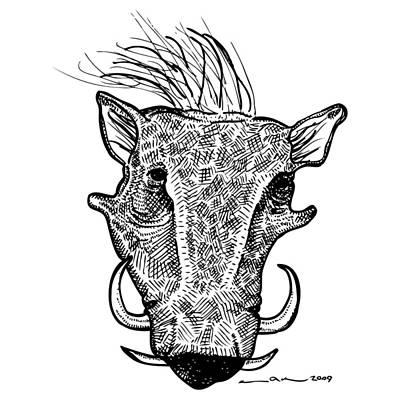 Wort Hog Art Print by Karl Addison