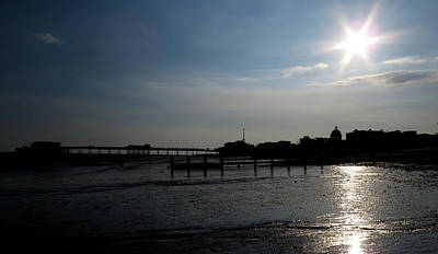Photograph - Worthing Pier Silhouette  by John Topman