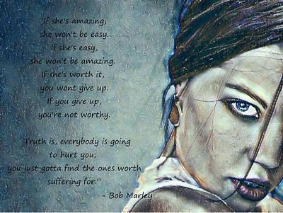 Digital Art - Worthy by Rhonda Barrett
