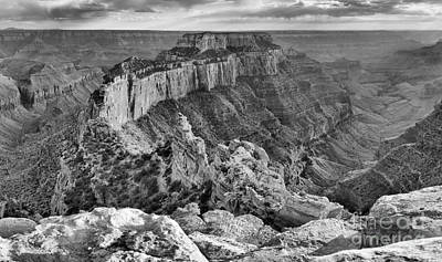 Photograph - Wotans Throne Black And White Panorama by Adam Jewell