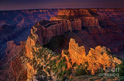 Photograph - Wotans Throne Cape Royal Sunrise North Rim Grand Canyon National Park Arizona by Dave Welling