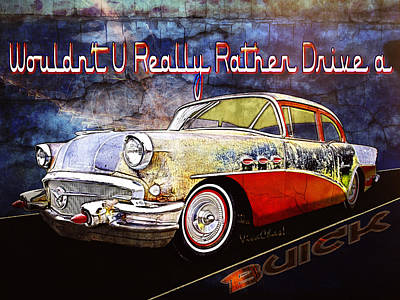 Blue Hues - Wouldnt U Really Rather Drive a Buick by Chas Sinklier