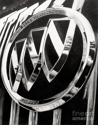 Drawing - Buick Grill Emblem by Becky West