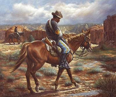 Saddle Painting - Wounded In Action by Harvie Brown