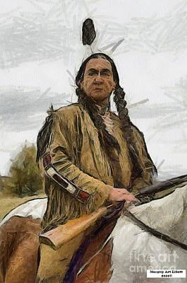 Murphy Painting - Wounded Knee by Murphy Elliott