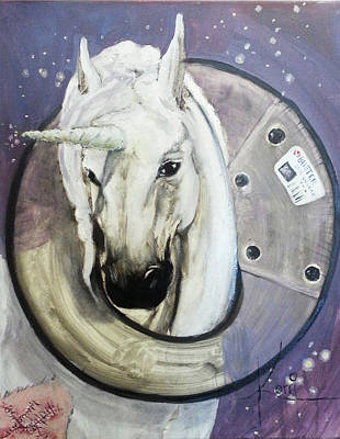 Get Well Soon Painting - Wounded Unicorn by Korri Myers