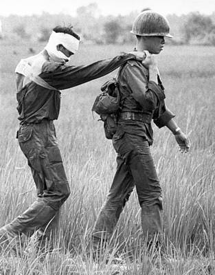 Vietnamese Photograph - Wounded Vietnamese Soldier by Underwood Archives
