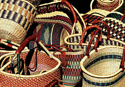 Photograph - Woven Baskets by Diana Angstadt