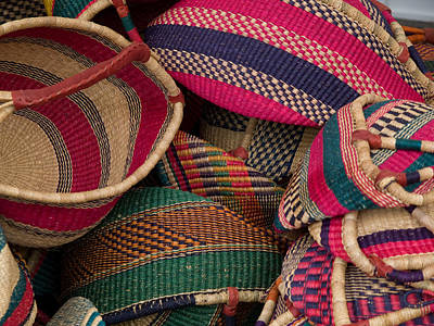 Woven Baskets Art Print by Walter Beck